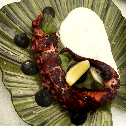 Grilled Octopus at The Four Seasons in Miami Beach